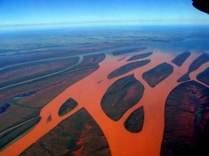 silting of rivers